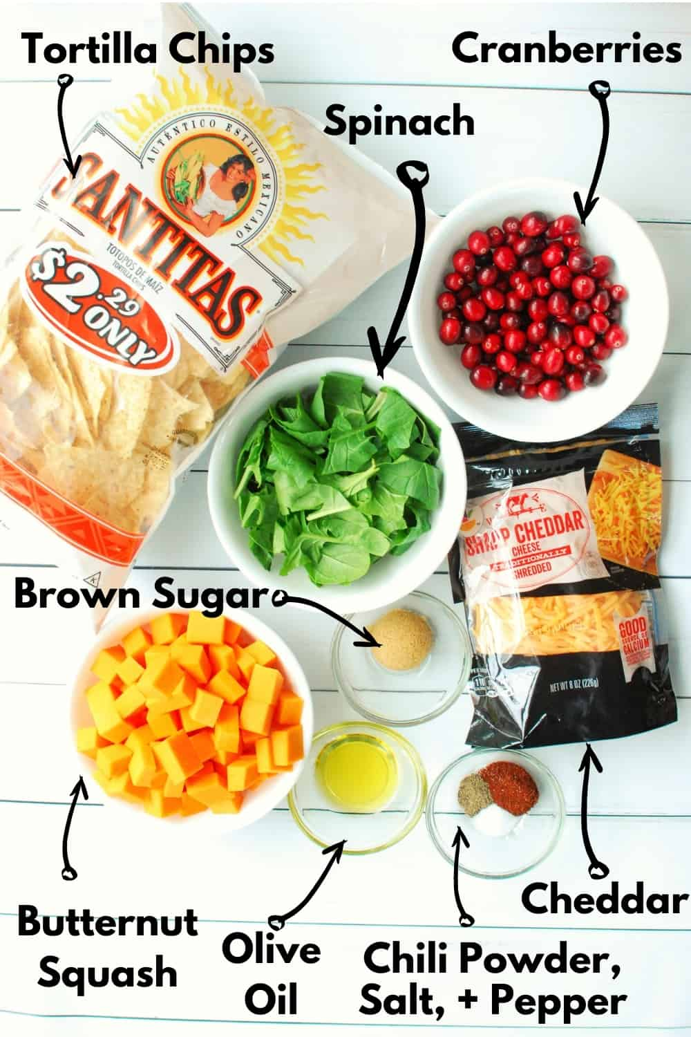 An overhead shot of all the ingredients needed to prepare the recipe.